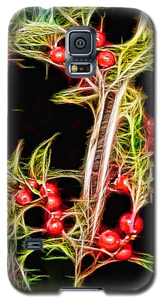 Galaxy S5 Case featuring the photograph Christmas Berries by EricaMaxine  Price