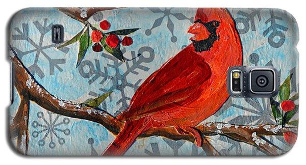 Christmas Cardinal Galaxy S5 Case