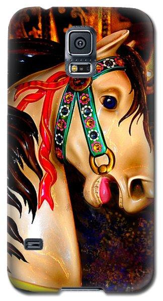 Christmas Carousel Horse Galaxy S5 Case