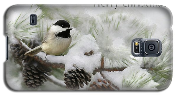 Galaxy S5 Case featuring the photograph Christmas Chickadee by Lori Deiter
