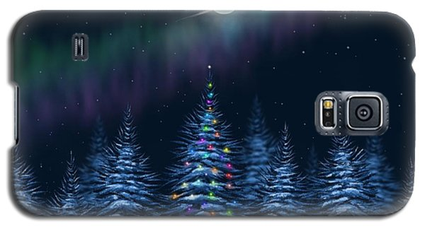 Galaxy S5 Case featuring the painting Christmas Eve by Veronica Minozzi