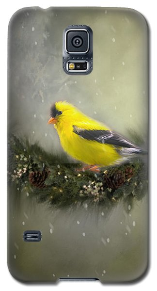 Christmas Finch Galaxy S5 Case by Mary Timman