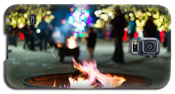 Christmas Fire Pit Galaxy S5 Case