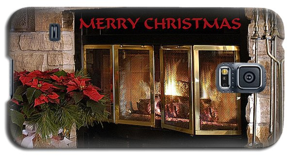 Galaxy S5 Case featuring the photograph Christmas Fireplace by Geraldine Alexander