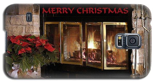 Christmas Fireplace Galaxy S5 Case