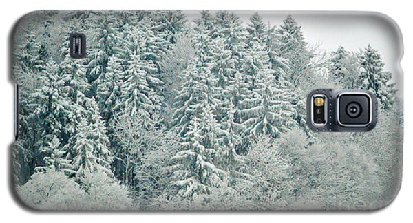 Galaxy S5 Case featuring the photograph Christmas Forest - Winter In Switzerland by Susanne Van Hulst