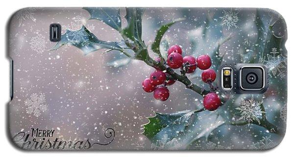 Christmas Holly Galaxy S5 Case