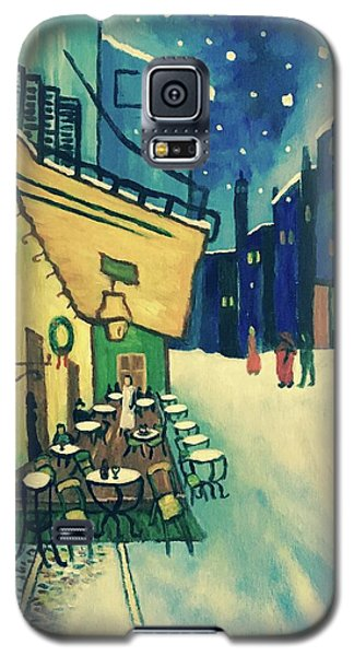 Galaxy S5 Case featuring the painting Christmas Homage To Vangogh by Victoria Lakes