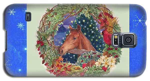 Christmas Horse And Holiday Wreath Galaxy S5 Case