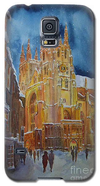 Galaxy S5 Case featuring the painting Christmas In Canterbury by Beatrice Cloake