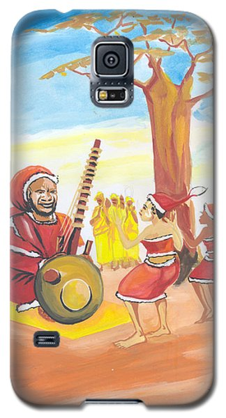 Galaxy S5 Case featuring the painting Christmas In Senegal by Emmanuel Baliyanga