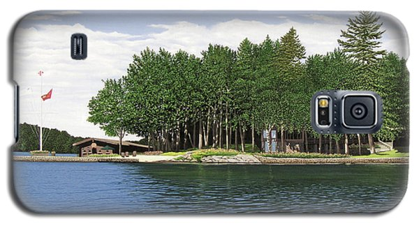 Galaxy S5 Case featuring the painting Christmas Island Muskoka by Kenneth M Kirsch