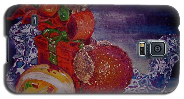 Galaxy S5 Case featuring the painting Christmas by Julie Todd-Cundiff