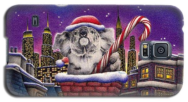 Christmas Koala In Chimney Galaxy S5 Case by Remrov