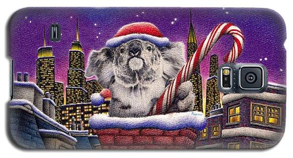 Christmas Koala In Chimney Galaxy S5 Case