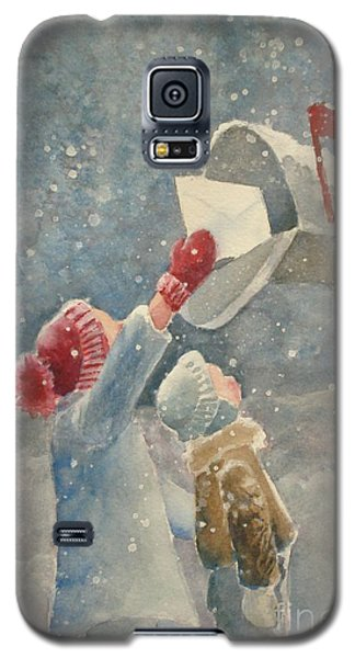 Christmas Letter Galaxy S5 Case by Marilyn Jacobson