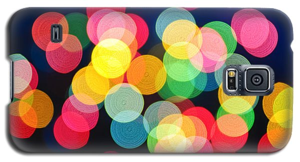 Christmas Lights Abstract Galaxy S5 Case