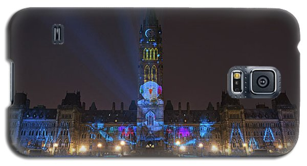 Galaxy S5 Case featuring the photograph Christmas Lights Across Canada.. by Nina Stavlund