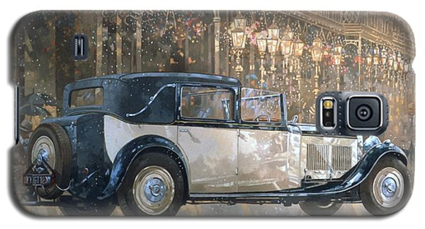 Car Galaxy S5 Case - Christmas Lights And 8 Litre Bentley by Peter Miller