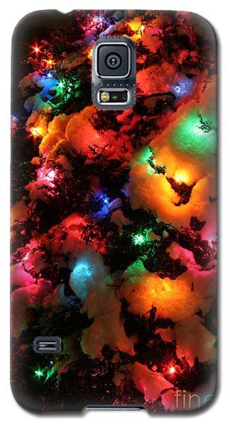 Christmas Lights Coldplay Galaxy S5 Case by Wayne Moran