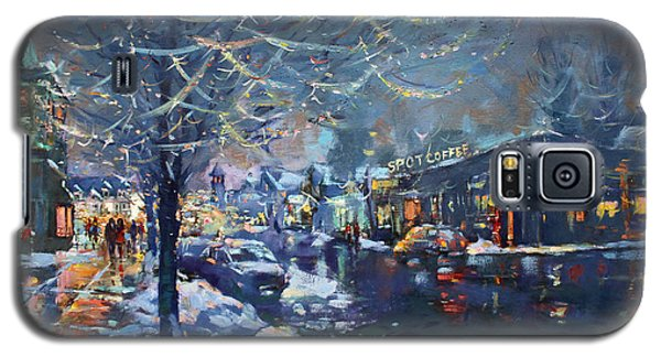 Icy Galaxy S5 Case - Christmas Lights In Elmwood Ave  by Ylli Haruni
