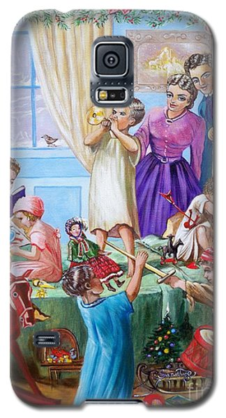Galaxy S5 Case featuring the painting Christmas Morning by Sigrid Tune