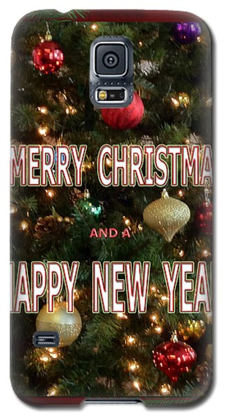 Christmas New Year Card Galaxy S5 Case