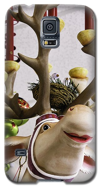 Galaxy S5 Case featuring the photograph Christmas Reindeer Games by Betty Denise