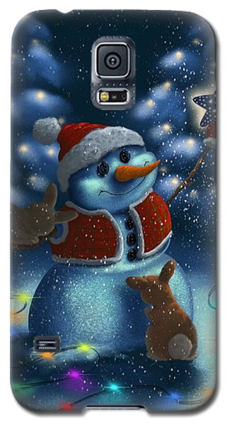 Galaxy S5 Case featuring the painting Christmas Season by Veronica Minozzi