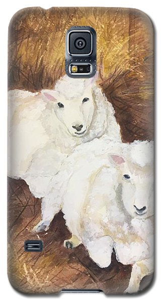 Christmas Sheep Galaxy S5 Case by Lucia Grilletto