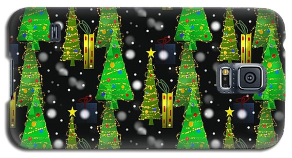 Christmas Snow Fall Galaxy S5 Case by Kathleen Sartoris