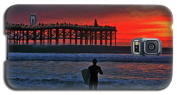 Christmas Surfer Sunset Galaxy S5 Case
