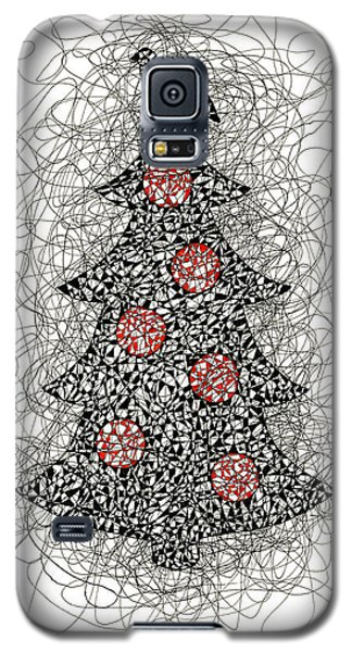Christmas Tree Pen And Ink Drawing Galaxy S5 Case