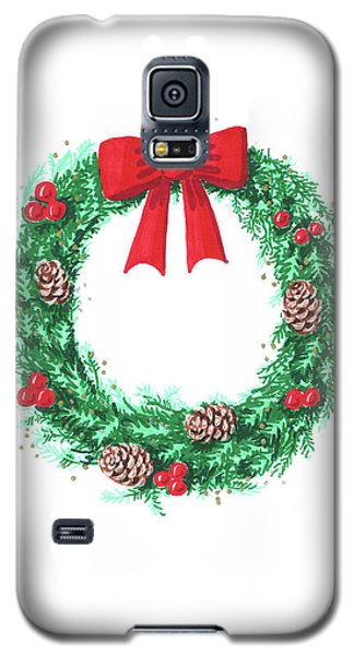Christmas Wreath Galaxy S5 Case