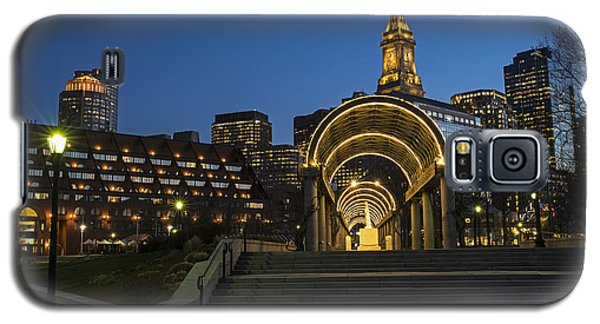 Christopher Columbus Park Boston Ma Trellis Custom House Galaxy S5 Case