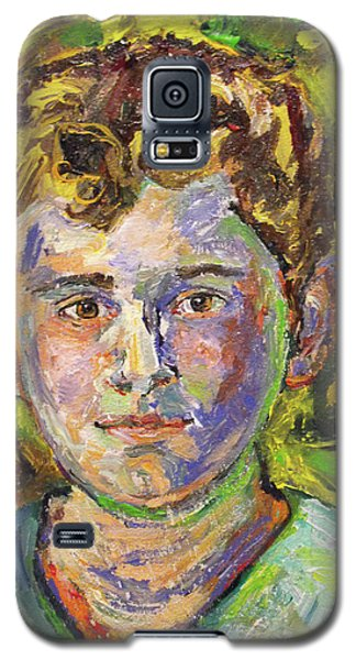 Galaxy S5 Case featuring the painting Christopher by Koro Arandia