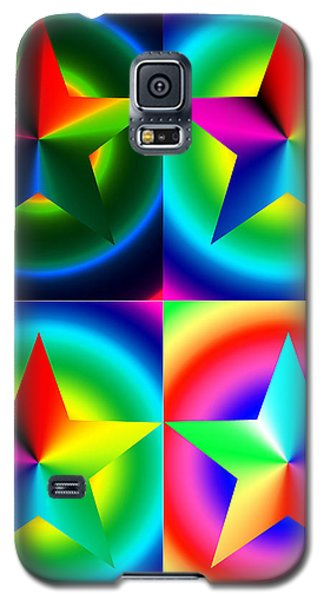 Chromatic Star Quartet With Ring Gradients Galaxy S5 Case