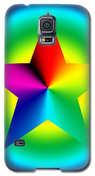 Chromatic Star With Ring Gradient Galaxy S5 Case