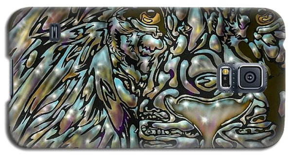 Galaxy S5 Case featuring the digital art Chrome Lion by Darren Cannell