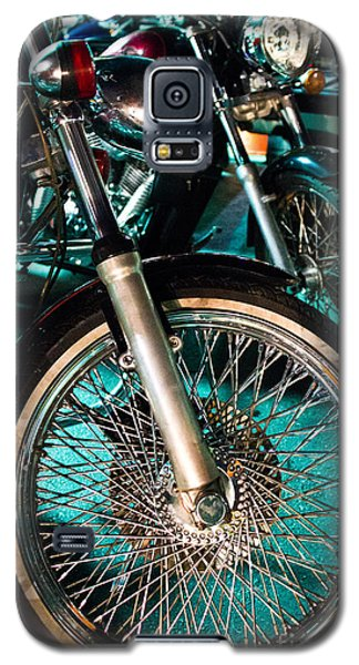 Chrome Rim And Front Fork Of Vintage Style Motorcycle Galaxy S5 Case