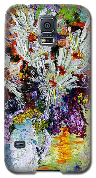Chrysanthemums And Lilacs Still Life Galaxy S5 Case by Ginette Callaway