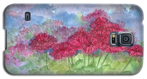 Galaxy S5 Case featuring the painting Chrysanthemums by Cathie Richardson