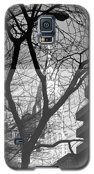 Galaxy S5 Case featuring the photograph Chrysler Building And Tree by Dave Beckerman