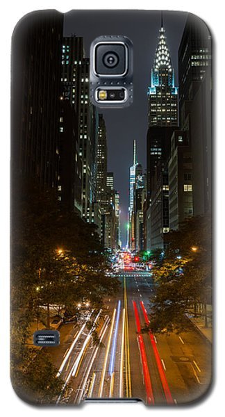 Galaxy S5 Case featuring the photograph Chrysler Building At Night by Chris McKenna
