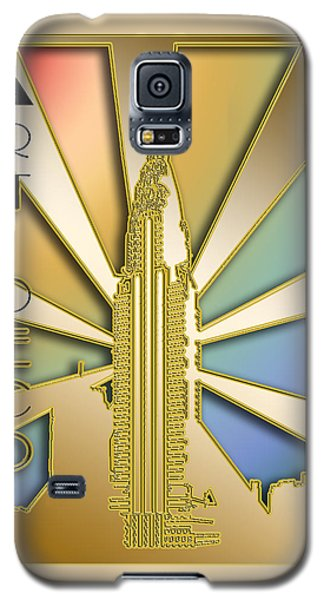 Galaxy S5 Case featuring the digital art Chrysler Building - Chuck Staley by Chuck Staley