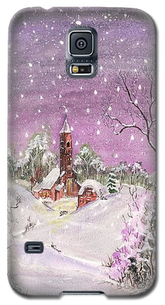 Galaxy S5 Case featuring the digital art Church In The Snow by Darren Cannell
