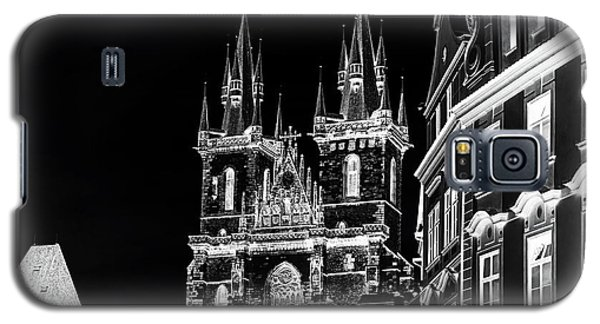 Galaxy S5 Case featuring the photograph Church Of Our Lady Before Tyn. Night Prague by Jenny Rainbow