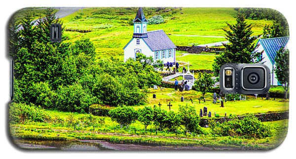 Church On The Green Galaxy S5 Case by Rick Bragan