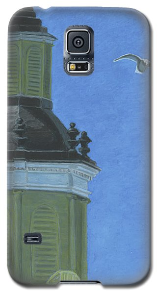 Church Steeple With Seagull Galaxy S5 Case