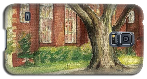 Galaxy S5 Case featuring the painting Church Tree by Denise Fulmer